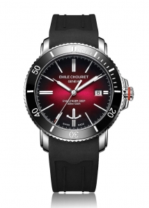 EMILE CHOURIET CHALLENGER DEEP RED DIAL