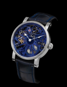 SCHAUMBURG WATCH UNIKATORIUM HAND MADE BLUE ICE